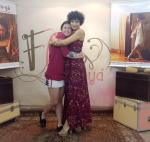A Diretora Tainá Pompêo e sua querida coreógrafa Flores de Goyá, Valeska Gonçalves.