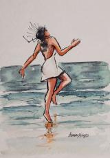 Areia - Axé 1 - aquarela, por Amaury Menezes